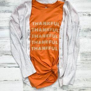 NWT Thankful Tee - Burnt Orange